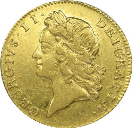 1734 George II Gold Half Guinea  in VF Condition